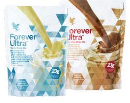 Protein-Shakes Vanille und Schoko