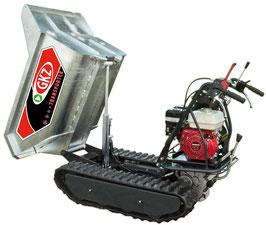 Minitransporter/Motocarriola cingolata GK500HDi, 500Kg sollevamento idraulico.  Motore HONDA