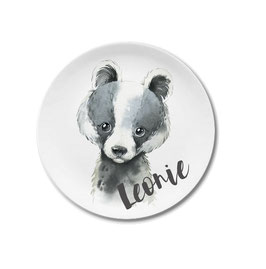 Large plate with name badger Leonie