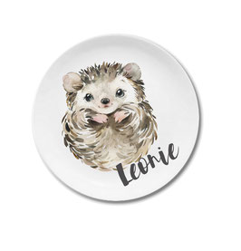 Large plate with name hedgehog Leonie