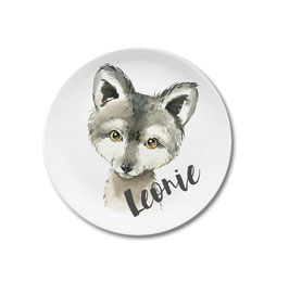 Large plate with name wolf Leonie