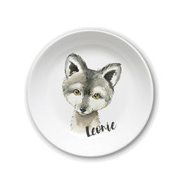 Kids plate with name wolf Leonie