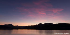 HAUTES ALPES, Lac de Serre ponçon, L'heure Bleu