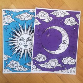 Limitiertes Druck Set Sonne / Mond (15 Paare)