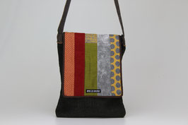 Borsa Postino con Pattina Patchwork