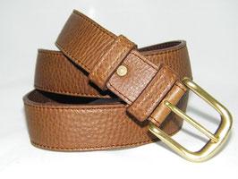 ceinture en cuir marron   mod 3.5/m2