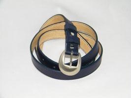 ceinture fine en cuir marine mod 2.5/BM4