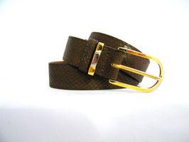ceinture en cuir marron façon serpent mod 3.0/S1