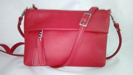 sac julia en cuir rouge vif (mod m)