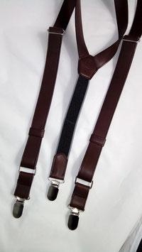 Bretelles en cuir marron