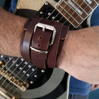 "BRACELET DE FORCE EN CUIR MARRON ""BORIS"""