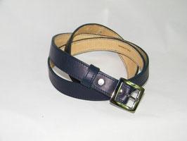 ceinture fine en cuir bleu marine mod 2.5/BM3