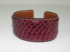 Bracelet Manchette en serpent grenat