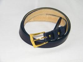ceinture fine en cuir bleu marine mod 2.5/BM5
