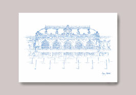 Carte postale Gare des Brotteaux