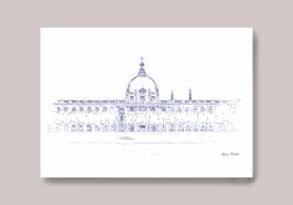 Carte postale Lyon Grand Hotel Dieu vue iconique