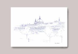 Carte Postale Lyon Grand Hôtel Dieu Vue Pont Wilson