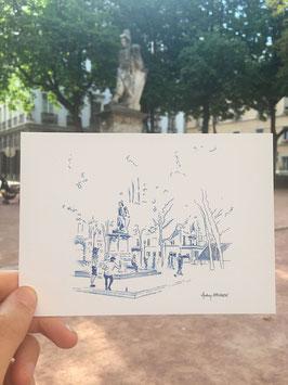Carte postale Lyon Place sathonay