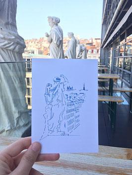 Carte postale Muses Opéra de Lyon - Fourvière