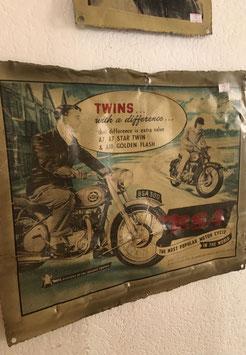 "Blechschild ""Twins Motorbike"""
