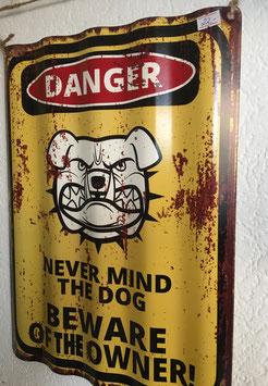 """Blechschild, gewellt """"Danger"""""""