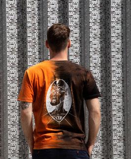 """T-shirt unique unisexe """"orange et noir vision"""""""