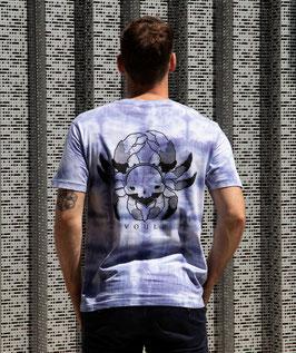 "T-shirt unique unisexe ""quadri bleu cra(*)e"""