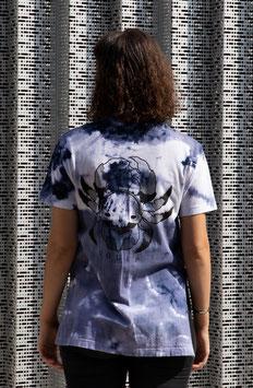 "T-shirt unique unisexe ""bleu fendu cra(*)e"""
