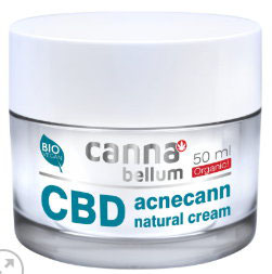 Cannabellum CBD acnecann natural cream 50ml Gesichtscreme für alle Hauttypen. Für Tag und Nacht.