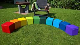 10 MINI  Regenbogen-Schaumstoffwürfel