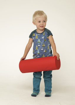 Rolle 45cm lang, 15cm Durchmesser, ROT