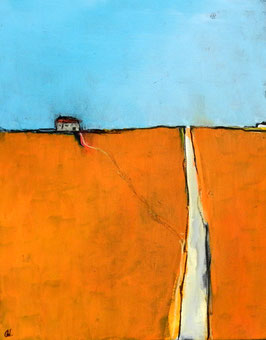 Auftragsbild - Thema: Urlaubsreise - orange - hellblau