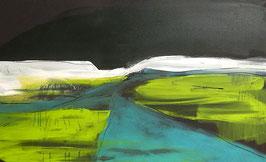 grünes Gemälde - Irgendwo