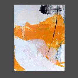 Titel: Serie - Sich seinen Freiraum angeln  (3) - abstraktes Bild - 100 x 120 cm