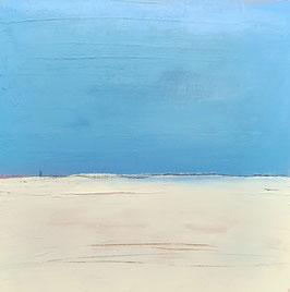 Strandruhe  60 x 60 cm blaues Gemälde