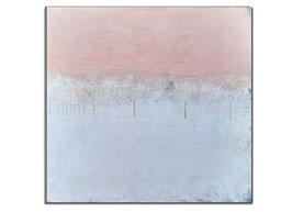 rosa weißes Bild auf 100 x 100 cm