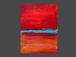 100 x 80 cm - rotes Bild - Ernte nr. 4