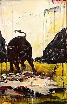 Stier malen lassen - als Auftragsbild
