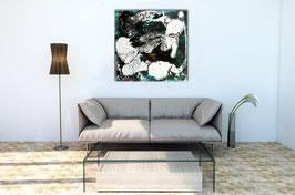 schwarz weiss Bild Fusion 1  - 60 x 60 cm