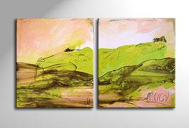 Schöner Reisen 2 x 90 x 80 cm - grüne bilder
