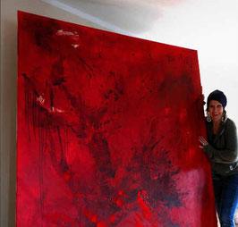 rotes oder grünes Bild malen lassen xxl