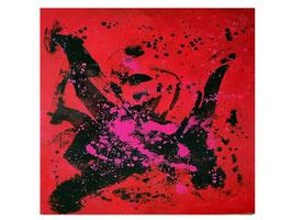 Rotes Bild auf 110 x 130 cm