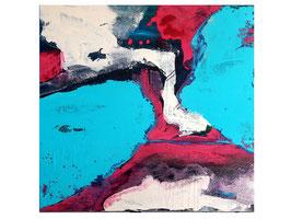 blaues abstraktes Bild 100 x 80 cm