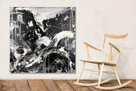 schwarz weiss Bild - in 100 x 100 cm