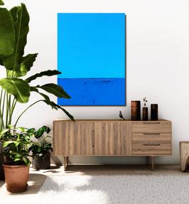 Blaues Bild - 160 x 100 cm