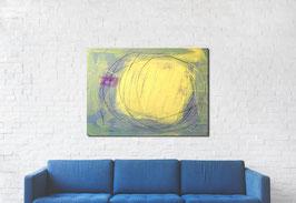 gelbes Bild - Veränderung - 100 x 80 cm