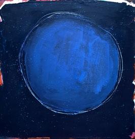 Blaues Bild 80 x 80 cm