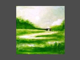 """Grünes Bild  """"Frischluft"""" 95 x 95 cm"""