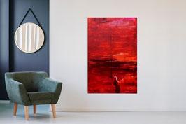 Dunkelrotes Bild 100 x 160 cm