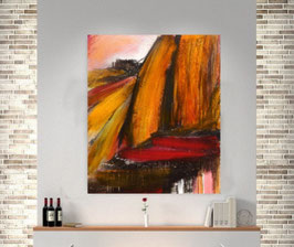 bild orange braun 120 x 100 cm